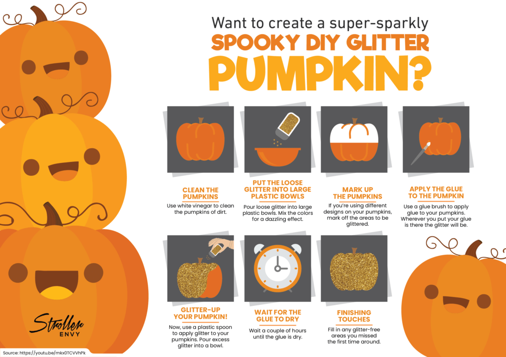 DIY Glitter Pumpkin Tutorial