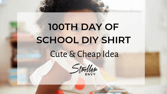100th Day Of School DIY Shirt - Cute & Cheap Idea