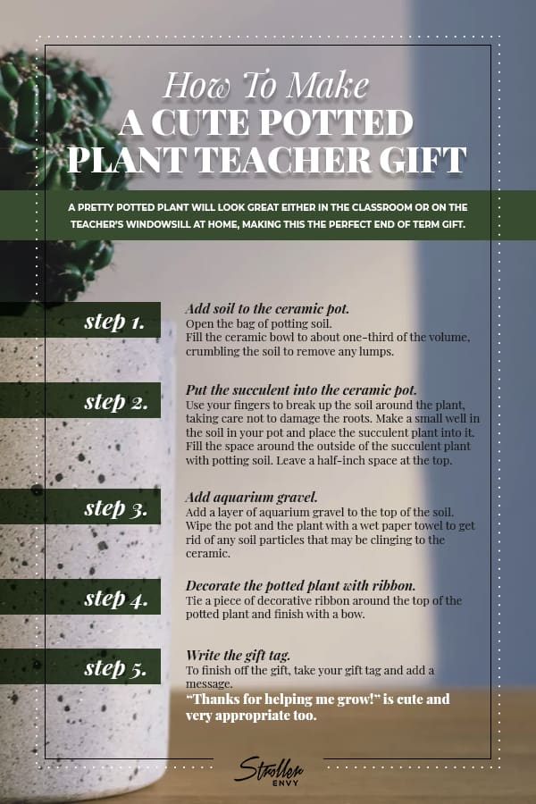 How To Make A Cute Potted Plant Teacher Gift