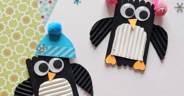 Popsicle Stick Penguin Craft