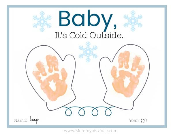 Winter Handprint Craft for Babies and Toddlers [Printable]