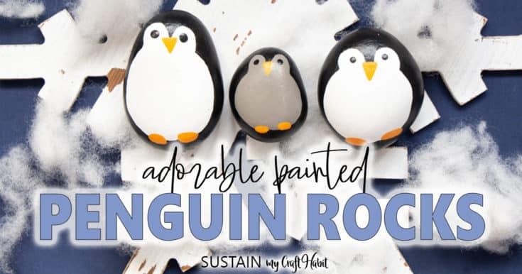 Paint an adorable penguin family!