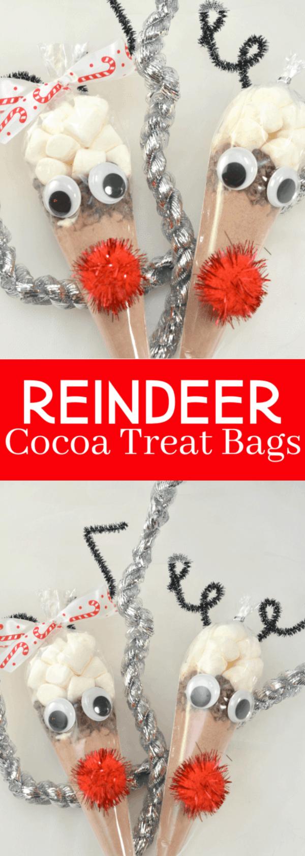 Reindeer Cocoa Treat Bags