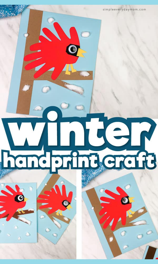 A Wintery Cardinal Handprint Craft For Kids