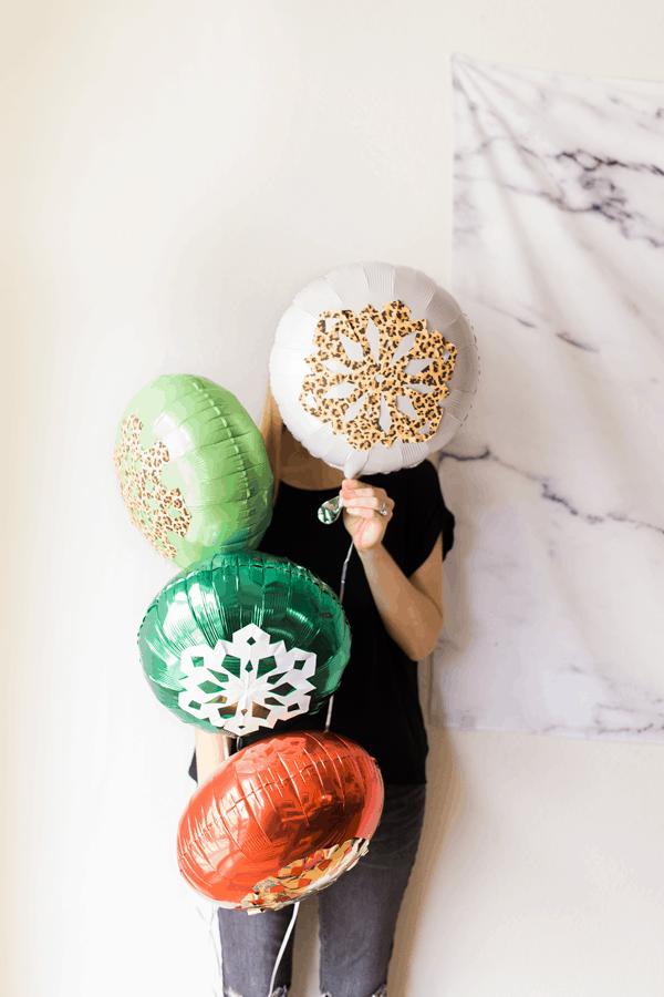 DIY Snowflake Balloons for the Holidays