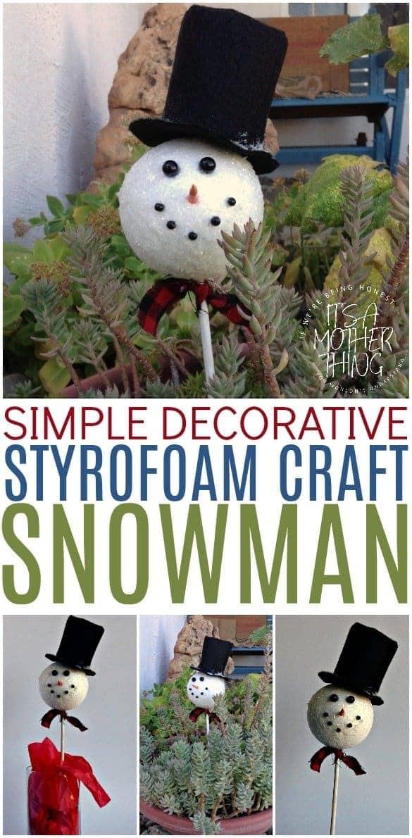 Simple Snowman Craft