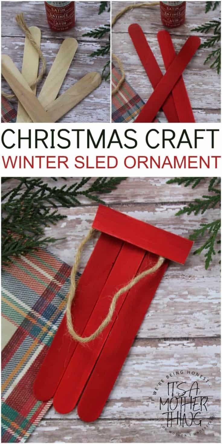 Christmas Craft – Holiday Sled Ornament