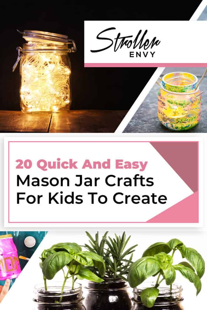 25 Quick And Easy Mason Jar Crafts For Kids To Create