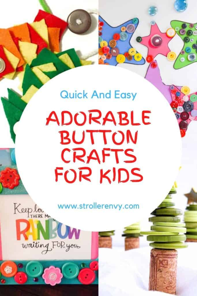 adorable button crafts for kids
