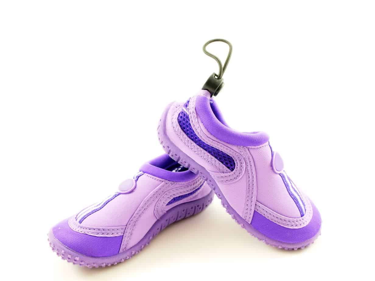 purple toddler water shoes