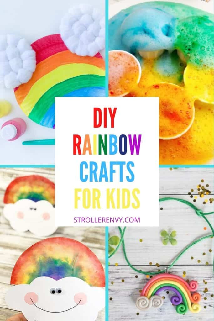 Rainbow crafts for kids pin image