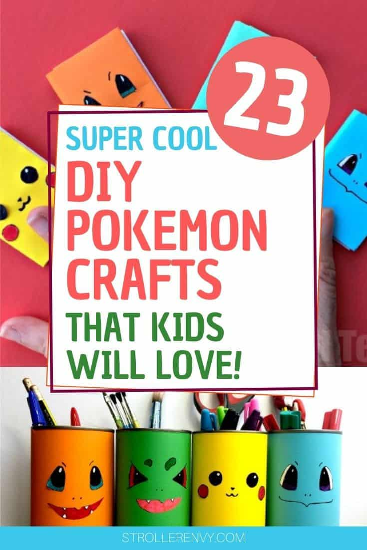 23 DIY Pokemon Crafts For Kids Cover