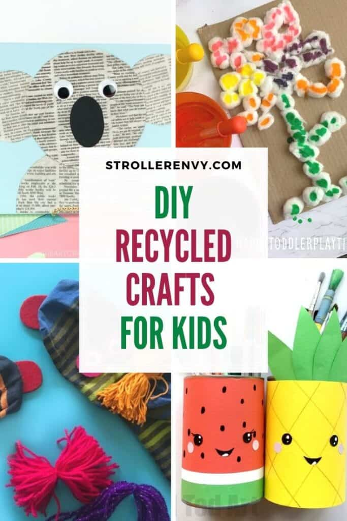 recycled crafts for kids pin image