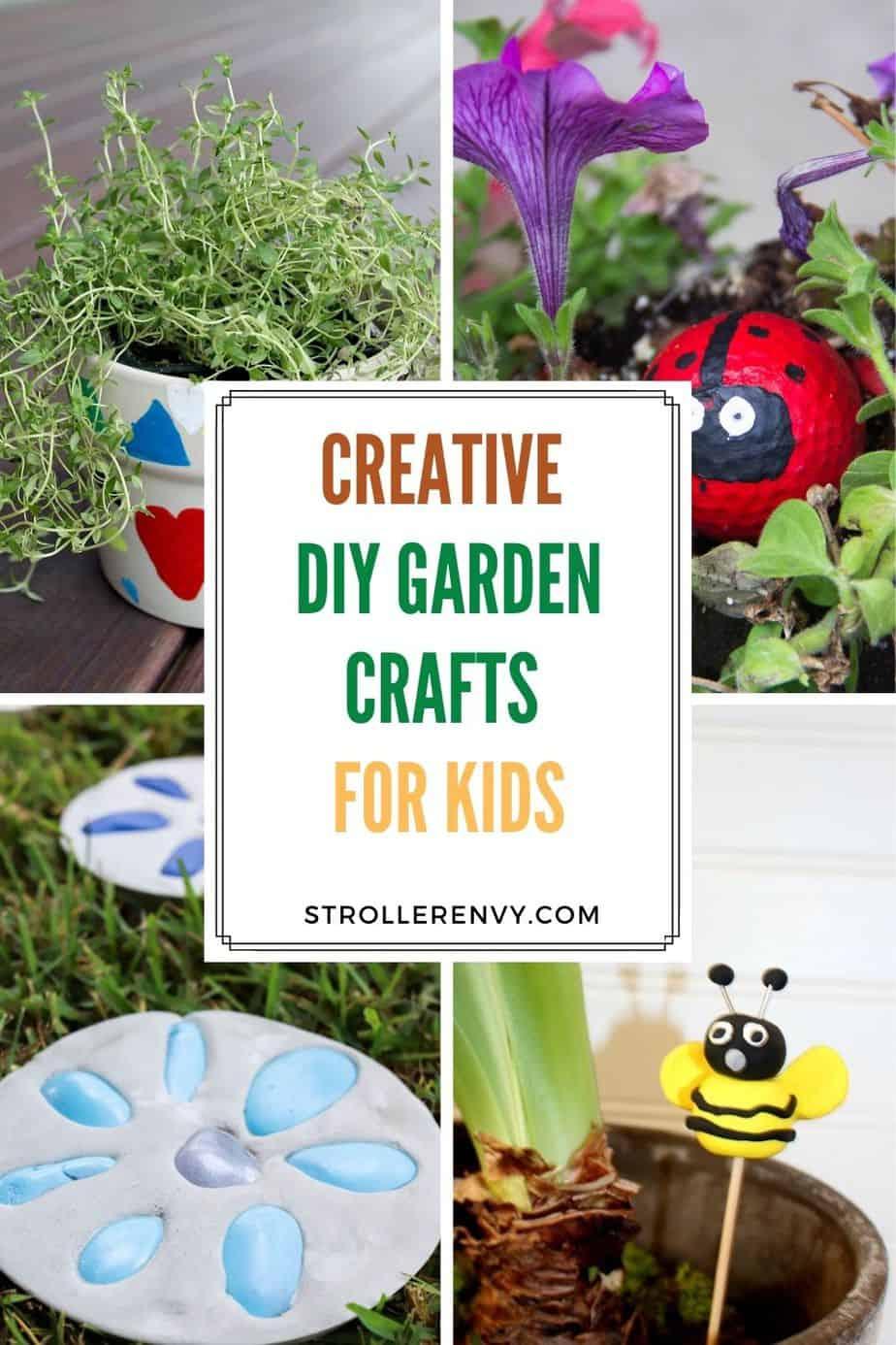 diy garden crafts pin image