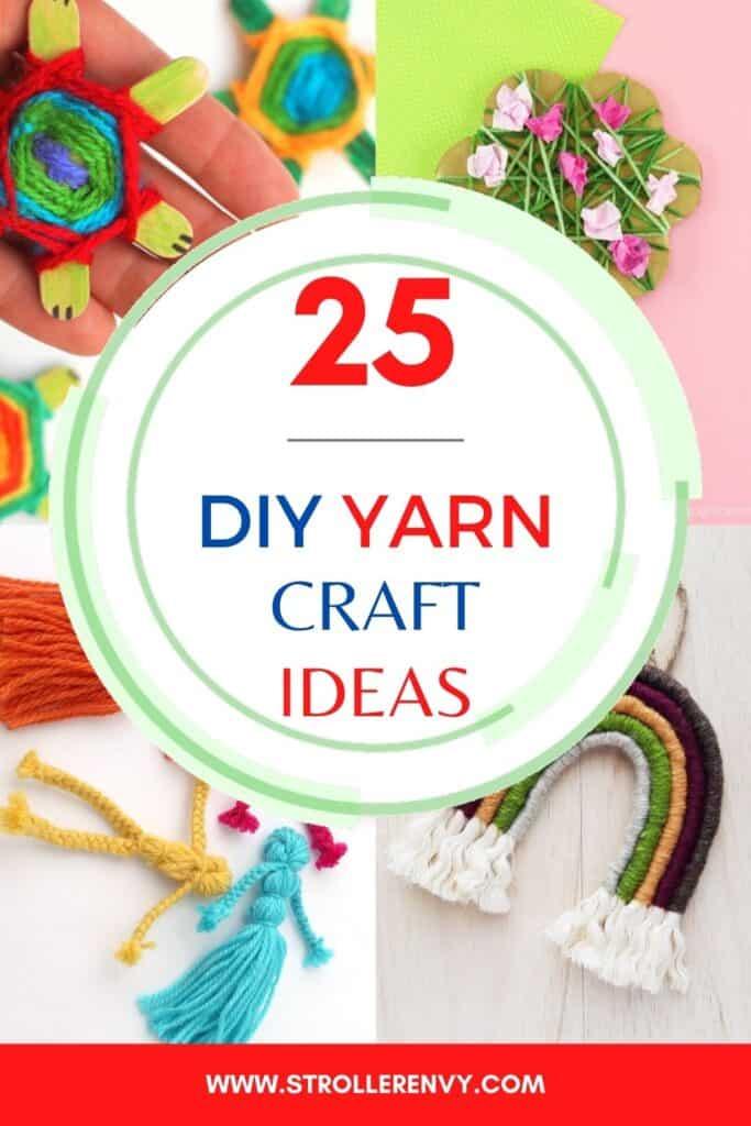 yarn crafts collage
