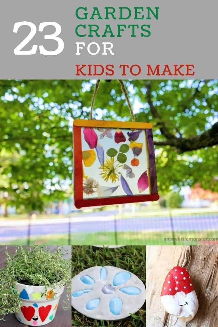 garden crafts collage