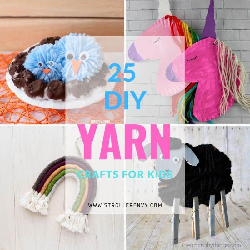 DIY yarn crafts for kids