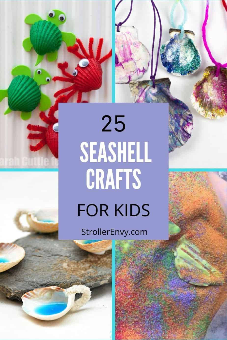 seashell crafts pin collage