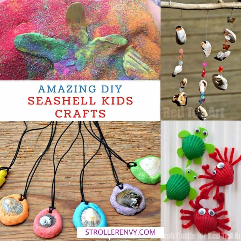 DIY Seashell Crafts For Kids