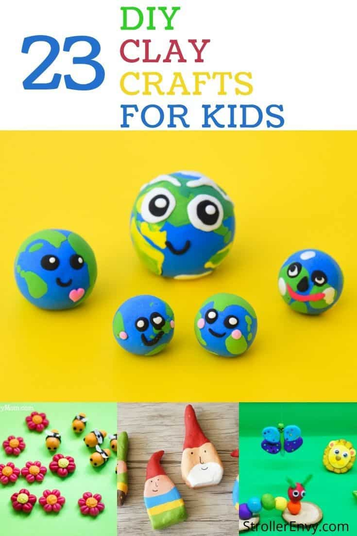 23 clay crafts for kids collage