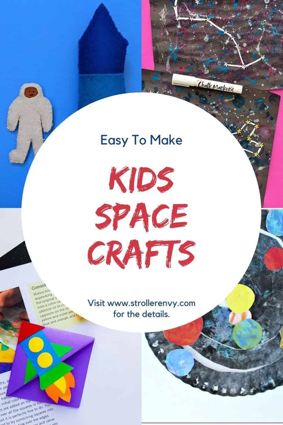 kids space crafts collage