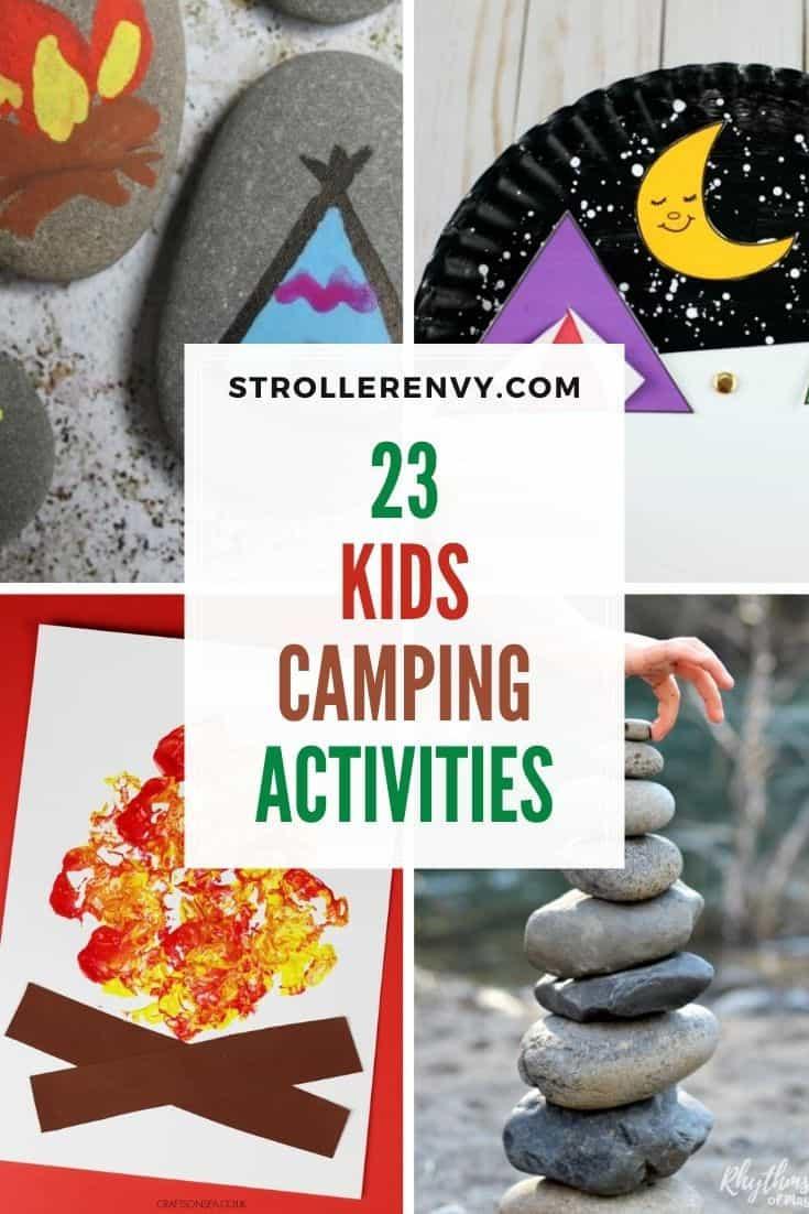 DIY Camping Crafts For Kids pin collage