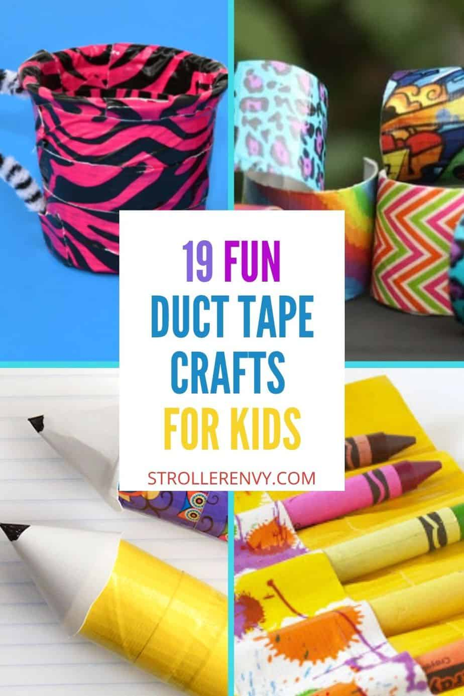 duct tape crafts pin collage